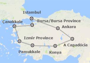 Turquia: Istambul, Ancara, Capadócia, Pamukkale, Izmir e Çanakkale