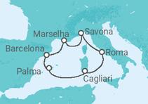 Maravilhoso Mediterrâneo de Verão com voos