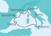 Maravilhoso Mediterrâneo com voos