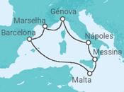 Itinerário do Cruzeiro Subindo as ruas de La Valletta - MSC Cruzeiros