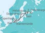 Itinerário do Cruzeiro Dinamarca, Estónia, Rússia, Finlândia, Suécia, Alemanha - Holland America Line
