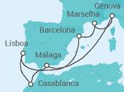 Itinerário do Cruzeiro Explorar o Mediterrâneo - MSC Cruzeiros
