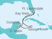 Itinerário do Cruzeiro EE.UU., México, Ilhas Caimão - Celebrity Cruises