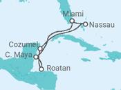 Itinerário do Cruzeiro Baamas, México, Honduras - Royal Caribbean