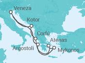 Itinerário do Cruzeiro Montenegro e Grécia - Royal Caribbean