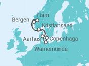 Itinerário do Cruzeiro Noruega, Dinamarca, Alemanha - Costa Cruzeiros