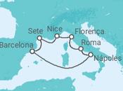 Itinerário do Cruzeiro 5 Maravilhas do Mediterrâneo - Pullmantur