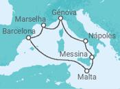 Itinerário do Cruzeiro Scylla, Charybdis e a ilha dos cavaleiros - MSC Cruzeiros