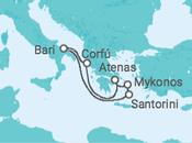 Itinerário do Cruzeiro Grécia - Costa Cruzeiros