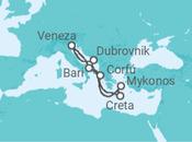 Itinerário do Cruzeiro Itália, Grécia, Croácia - MSC Cruzeiros