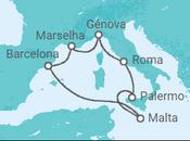 Itinerário do Cruzeiro França, Itália, Malta - MSC Cruzeiros