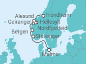 Itinerário do Cruzeiro Fiordes da Noruega - Pullmantur