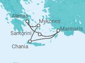 Itinerário do Cruzeiro Ilhas Gregas - Pullmantur