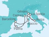Itinerário do Cruzeiro Beleza pura Riviera Italiana e Francesa - MSC Cruzeiros