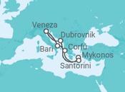 Itinerário do Cruzeiro Mergulho nas ilhas gregas - Costa Cruzeiros