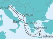 Itinerário do Cruzeiro Mikonos e Santorini as paragens obrigatórias no Mar Egeu - MSC Cruzeiros