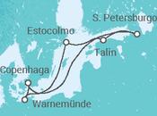 Itinerário do Cruzeiro Duas cidades, um espelho do mar: Estocolmo e São Petersburgo - MSC Cruzeiros