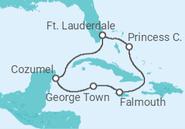 Itinerário do Cruzeiro Baamas, México - Princess Cruises