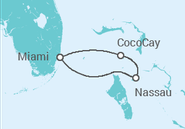 Itinerário do Cruzeiro EUA, Baamas - Royal Caribbean