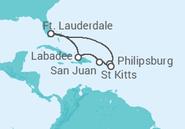 Itinerário do Cruzeiro EUA, Sint Maarten, Porto Rico - Royal Caribbean