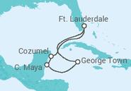 Itinerário do Cruzeiro EE.UU., Ilhas Caimão, México - Royal Caribbean