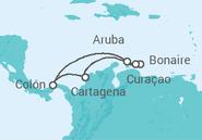 Itinerário do Cruzeiro Antilhas e Sul das Caraíbas - Pullmantur