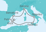 Itinerário do Cruzeiro Imersão no Mediterrâneo Ocidental - Costa Cruzeiros