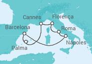 Itinerário do Cruzeiro Mediterrâneo 2018 - NCL Norwegian Cruise Line