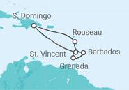 Itinerário do Cruzeiro Ilhas das Caraíbas e Barbados - Pullmantur