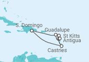 Itinerário do Cruzeiro Ilhas das Caraíbas - Pullmantur