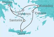 Itinerário do Cruzeiro  Egeu Icónico - Celestyal Cruises