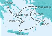 Itinerário do Cruzeiro Grécia, Turquia - Celestyal Cruises