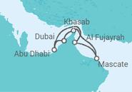 Itinerário do Cruzeiro Dubai e Lendas da Arábia - Pullmantur