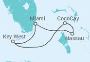 Itinerário do Cruzeiro Baamas - Royal Caribbean