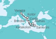 Itinerário do Cruzeiro Itália, Grécia, Montenegro - DRINK - MSC Cruzeiros