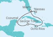 Itinerário do Cruzeiro Jamaica, Grand Cayman, México, Bahamas - MSC Cruzeiros
