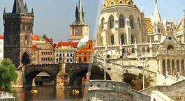 Europa Central: Praga e Budapeste de avião