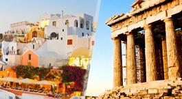 Grécia: Atenas e Santorini de avião