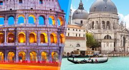 Itália: Roma e Veneza de comboio